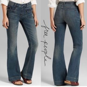Free People Tailored Retro Flare Jeans